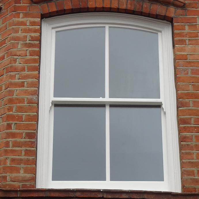 Wooden sash window